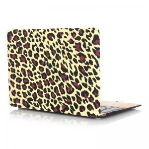 Skal för Macbook 12-tum - Leopardmönster gul & brun