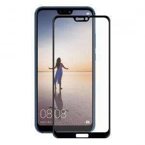 Displayskydd med svart ram för Huawei P20 Lite av härdat glas