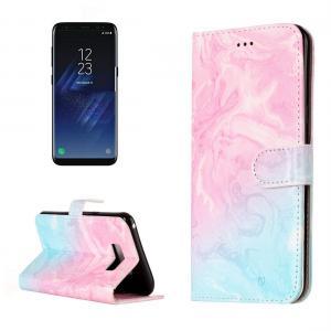 Plånboksfodral för Galaxy S8 - Marmormönster rosa & blå