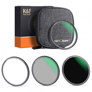 K&F Concept Magnetisk Filter-Kit ND1000 CPL UV & filterväska