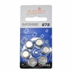 Jupio hörapparatsbatteri 675 Blå - 6st/förpackning