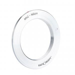 K&F Objektivadapter till M42 objektiv för Nikon kamerahus