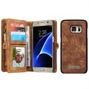 Plånboksfodral läder med magnetskal för Galaxy S7 - CaseMe