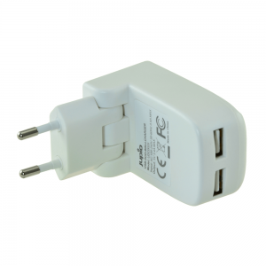Jupio Väggladdare/Nätadapter med dubbla USB-uttag