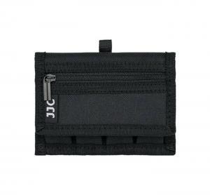 JJC Batterifodral med karbinhake för 4x 18650-batterier & 2x SD/XQD/CF