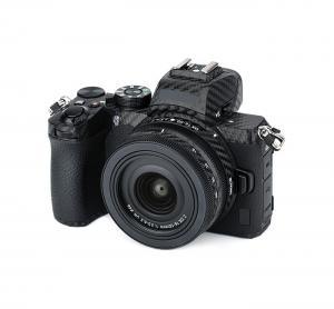 Kiwifotos Skin för Nikon Z50 + 16-50mm objektiv - Svart kolfiberfilm