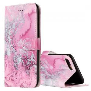 Plånboksfodral för iPhone 8P/7P - Rosa vågmönster