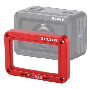 Puluz Röd Frontram och linsskydd för Sony RX0