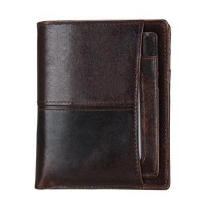 Läderplånbok med RFID-skydd och plats för ID-kort sedlar