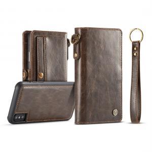 CaseMe Plånboksfodral med skal PU-läder för iPhone X