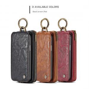 CaseMe för iPhone X - (3 i 1) Flipfodral, plånbok & magnetskal