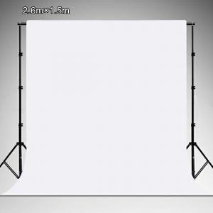 PULUZ Vit vinylbakgrund (2.6x1.5m)