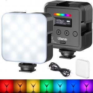 Ulanzi RGB Led-Panel Mini för kamera/mobil med difussor & batteri