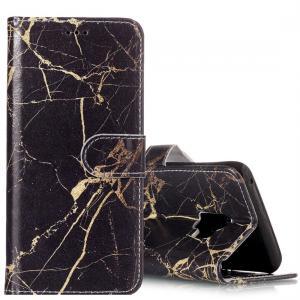 Plånboksfodral för Galaxy S9 - Marmor svart & guld
