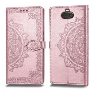Plånboksfodral för Sony Xperia 10 - Mandala Roséguld