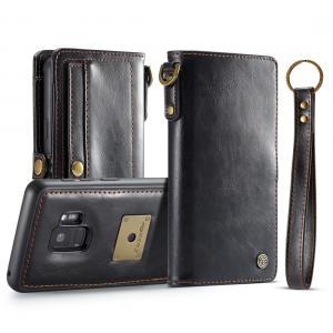 CaseMe Plånboksfodral med skal PU-läder för Galaxy S9