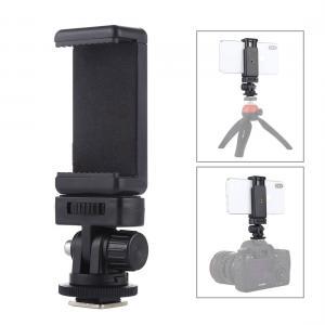 Mobilhållare med blixtskoadapter för blixtsko eller stativ - Puluz