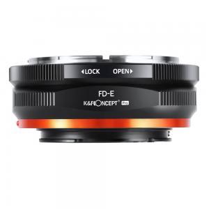 K&F Objektivadapter Pro till Canon FD objektiv för Sony E kamerahus