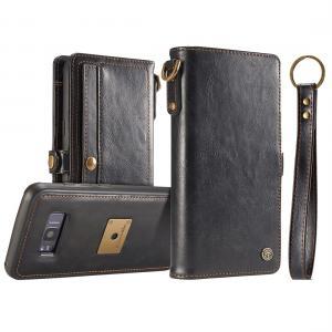 CaseMe för Galaxy S8 - Plånboksfodral med skal PU-läder