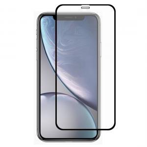 Displayskydd med svart ram för Displayskydd 9H för iPhone XR av härdat glas