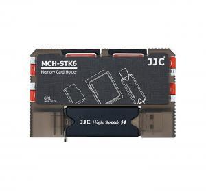 JJC Minneskorthållare & kortläsare för 2xSD 4XMSD