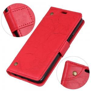 Plånboksfodral för iPhone X/XS - Röd marmormönster