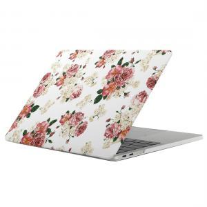 Skal för New Macbook Pro 13.3-tum - Vit med rosa blommor (A1706 & A1708)