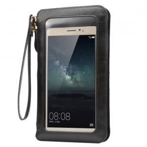 Universal mobilväska med touch screen (Svart)