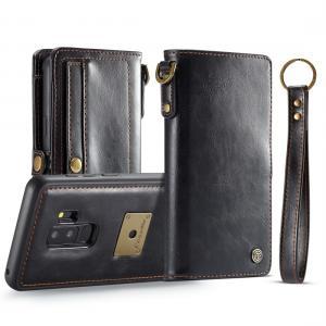 CaseMe för Galaxy S9 Plus - Plånboksfodral med skal PU-läder