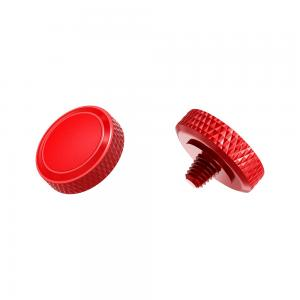 JJC Deluxe avtrycksknapp - Röd & Röd