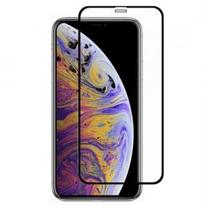 Displayskydd med svart ram för iPhone XS Max av härdat glas
