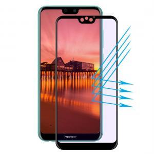 Displayskydd med svart ram för Huawei Honor 9i av härdat glas