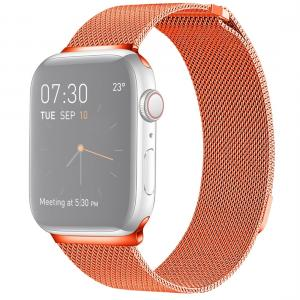 Armband för Apple Watch 38mm / 40mm - Kedja Magnetisk Orange