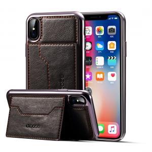Dibase för iPhone X Skal med kortplats PU-läder