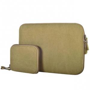Laptopväska + liten väska - Jeanstyg Khaki