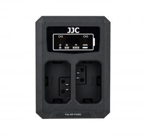 JJC USB-driven dubbel batteriladdare för Sony NP-FW50