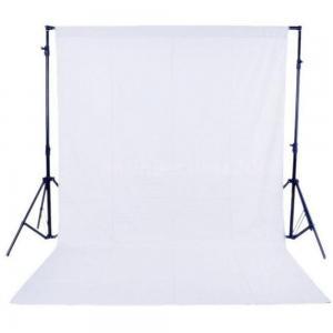 Vit bomullsbakgrund för fotografering (3x5m)