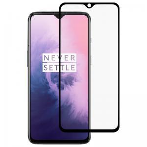 Heltäckande Displayskydd 9H för OnePlus 7T - Svart ram