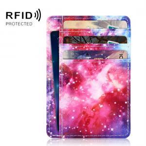 Öppen plånbok med RFID-skydd och plats för ID-kort - Rymdens Galaxer