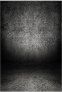 Vinylbakgrund 1.5x3m - Svart Grunge Textur