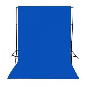 Blå bomullsbakgrund för fotografering (3x5m)
