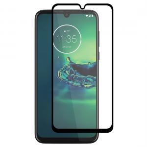 Displayskydd med svart ram för Motorola Moto G8 Plus av härdat glas