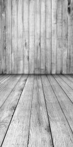 Vinylbakgrund - Trävägg + golv grå