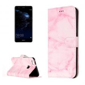 Plånboksfodral för Huawei P10 Lite- Rosa marmor