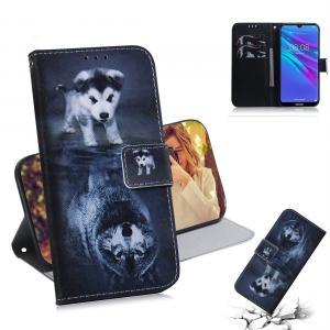 Plånboksfodral för Huawei Y6 (2019) - Hund till Varg