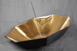 Fotoparaply Guld - Svart utsida