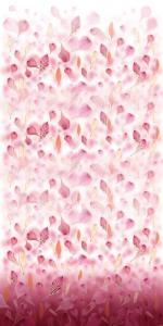 Vinylbakgrund 1.5x3.0m - Rosa fjädrar