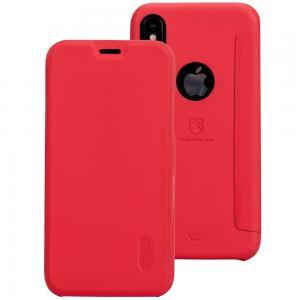 Lenuo Flipfodral för iPhone X - Röd
