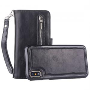 Plånboksfodral med avtagbart skal & handledsrem för iPhone X/XS
