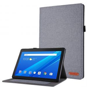 Fodral för Lenovo Tab E10 10.1 Grå textil